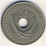 East Africa, 10 cents, 1911–1918