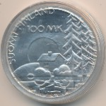 Финляндия, 100 марок (1990 г.)