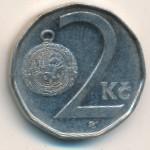 Чехия, 2 кроны (1993–2002 г.)
