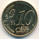 Латвия, 10 евроцентов (2014 г.)