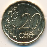 Latvia, 20 euro cent, 2014
