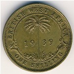 British West Africa, 1 shilling, 1938–1947
