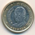 Испания, 1 евро (2001–2003 г.)