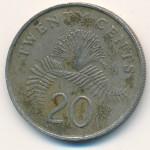 Сингапур, 20 центов (1988–1991 г.)