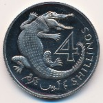 The Gambia, 4 shillings, 1966