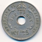 British West Africa, 1 penny, 1937–1947