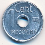 French Indo China, 1 cent, 1943