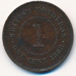 Британский Гондурас, 1 цент (1885–1889 г.)