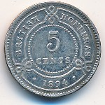 British Honduras, 5 cents, 1894