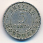 British Honduras, 5 cents, 1911–1936