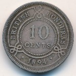 British Honduras, 10 cents, 1894