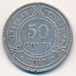 British Honduras, 50 cents, 1911–1919