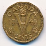 Canada, 5 cents, 1943–1944