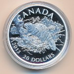 Канада, 20 долларов (2013 г.)