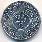 Антильские острова, 25 центов (1990–2010 г.)