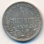 Немецкая Африка, 1/4 рупии (1909–1910 г.)