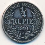 Немецкая Африка, 1/4 рупии (1910 г.)