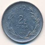 Турция, 2 1/2 лиры (1972–1979 г.)