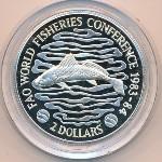 Либерия, 2 доллара (1983 г.)
