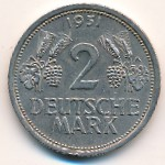 West Germany, 2 mark, 1951