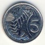 Каймановы острова, 5 центов (1992–1996 г.)