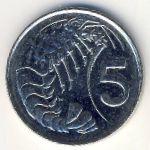 Каймановы острова, 5 центов (1999–2005 г.)