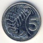 Каймановы острова, 5 центов (1999–2002 г.)