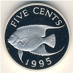 Bermuda Islands, 5 cents, 1995