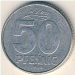 German Democratic Republic, 50 pfennig, 1968–1990