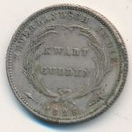Netherlands East Indies, 1/4 gulden, 1826–1840