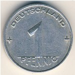 German Democratic Republic, 1 pfennig, 1952–1953