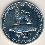 Ascension Island, 1 crown, 1978