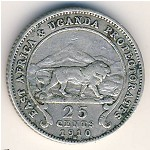 East Africa, 25 cents, 1906–1910