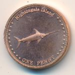 Nightingale Island, 1 penny, 2011