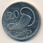 Фиджи, 20 центов (1995–1998 г.)