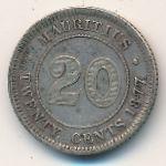 Маврикий, 20 центов (1877–1899 г.)
