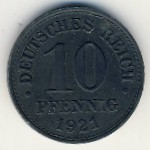 Germany, 10 pfennig, 1917–1922