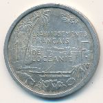 French Oceania, 1 franc, 1949