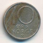 Норвегия, 10 эре (1975–1990 г.)