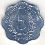 East Caribbean States, 5 cents, 1981–2000