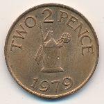Guernsey, 2 pence, 1977–1981