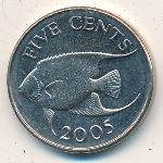 Bermuda Islands, 5 cents, 1999–2009