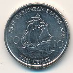 East Caribbean States, 10 cents, 2009