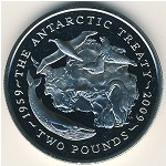 British Antarctic Territory, 2 pounds, 2009