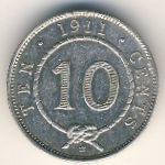 Саравак, 10 центов (1911 г.)