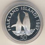 Фолклендские острова, 50 пенсов (1987 г.)
