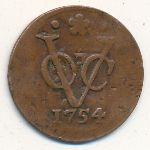 Нидерландская Индия, 1 дуит (1752–1754 г.)