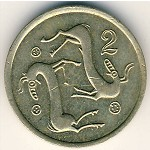 Cyprus, 2 cents, 1985–1990