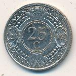Антильские острова, 25 центов (1989–2008 г.)