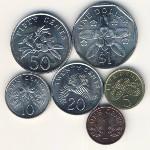 Сингапур, Набор монет (1987 г.)